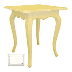 Tradewinds - Hand Painted Square Table, White - Add elite appeal to your decoration taste by having this beautiful hand-painted Square Cabriole Table in your home. This table is well known for its durability and long-time service. It can be used for varied purposes as preferred by the owner. The structure is of solid hardwood that is made from plantation grown and kiln-dried mahogany and mindi as well as premium hardwood veneers. It is available in varied finish options from which you can select the suitable one for your interior decor. Decorate your home with this traditionally designed table to get the envious eyes of the onlookers on you.