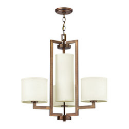 Hinkley Lighting - Hinkley Lighting 3209BR Hampton Brushed Bronze 4 Light Chandelier - Hinkley Lighting 3209BR Hampton Brushed Bronze 4 Light Chandelier