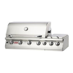 "Bull - 7-Burner 47"" SS Built-In NG Grill Head with Infrared Back Burner - This is an Island Component grill. Installation required. 105,000 BTU's -304 16 Gauge Stainless Steel Construction -Four cast stainless burners -Infrared Burner 15,000 BTU's -Single Piece Dual Lined Hood -Piezo igniters/Zinc Knobs -Solid Stainless Steel Grates -Heavy duty Thermometer -Warming Rack 210 Sq. in.-Stainless Steel Rotisserie Motor -Twin Lighting System -Double Side Burner -Built-in Trim Kit -CSA Certified -Smoker Box -Cooking Surface 810 Sq. 7 Burner Premium is a 7-Burner 47"" Stainless Steel Built-In Gas Barbecue Grill - Infrared Back Burner. It is also our largest grill head and the most versatile. -Weight: 232 lbs."