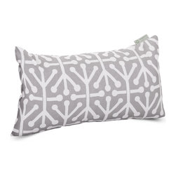 Majestic Home - Outdoor Gray Aruba Small Pillow - Add a splash of color and a little texture to any environment with these great indoor/outdoor plush pillows by Majestic Home Goods. The Majestic Home Goods Small Pillow will add additional comfort to your living room sofa or your outdoor patio. Whether you are using them as decor throw pillows or simply for support, Majestic Home Goods Small Pillows are the perfect addition to your home. These throw pillows are woven from Outdoor Treated polyester with up to 1000 hours of U.V. protection, and filled with Super Loft recycled Polyester Fiber Fill for a comfortable but durable look. Spot clean only.