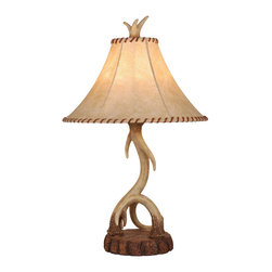 Vaxcel - Lodge Nochian Stone Table Lamp - Vaxcel TB33066NS Lodge Nochian Stone Table Lamp