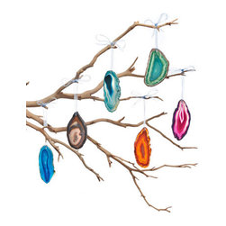 Brazilian Agate Joia Ornaments - Brazilian Agate Joia Ornaments are made from hand-polished agate stone, so no two are the same.