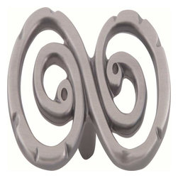 Atlas Homewares - Atlas 103-P Scroll 2 3/4-Inch Inchs Inch Shaped Door Knob Pewter - Atlas 103-P Scroll 2 3/4-Inch Inchs Inch Shaped Door Knob Pewter