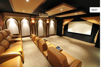Modern Home Theater by Joseph Anthony Interiors