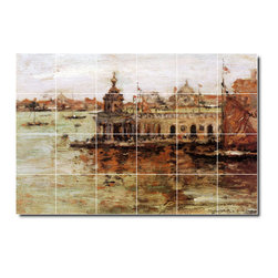 Picture-Tiles, LLC - Venice View Of The Navy Arsenal Tile Mural By William Chase - * MURAL SIZE: 32x48 inch tile mural using (24) 8x8 ceramic tiles-satin finish.