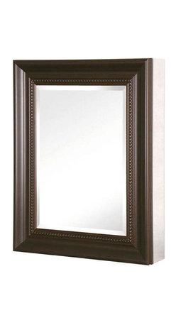 Pegasus - 20in. x 26in. Recessed or Surface Mount Mirrored Medicine Cabinet, Bronze - 20 in. x 26 in. Recessed or Surface Mount Mirrored Medicine Cabinet with Framed Door in Oil Rubbed Bronze