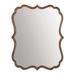 Uttermost - Spadola Copper Mirror - Hammered metal frame is finished in plated, oxidized copper with a rust gray wash.