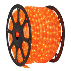 Seasonal Source - 1/2 inch 150 ft LED Orange Rope Light - LED Rope Lighting is some of the most versatile lighting. It can be wrapped around and bent into almost any shape or object.