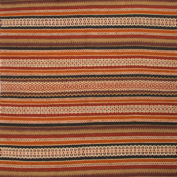 Jaipur Rugs - Flat-Weave Stripe Pattern Jute/ Chinille Red/Blue Area Rug ( 5x8 ) - Java, tribal patterned collection, the mix of natural fibers and colorful chenille is both textural and colorful.