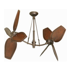 Ideas for Selecting Unique Ceiling Fans - With a unique shape and vintage charm, this double fan will add a unique style to your home.