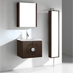 """Madeli - Madeli Palermo 24"""" Bathroom Vanity with Quartzstone Top - Walnut - Madeli brings together a team with 25 years of combined experience, the newest production technologies, and reliable availability of it's products. Featuring sleek sophisticated lines Madeli vanities are also created with contemporary finishes and materials. Some vanities also feature Blum soft-close hardware. Madeli also includes a Limited 1 Year Warranty on Glass Vessels, Basin, and Counter Tops. Features Base vanity wall hung Walnut finish Polished Chrome finish handle 1-1/4""""H Quartzstone Countertops come in White or Soft Grey finish Quartzstone Countertops come with single faucet or 8"""" widespread faucet holesCeramic undermount sink with overflow Faucet and drain are not includedNo backsplash Matching mirror and medicine cabinet available Limited 1 Year Warranty on Glass Vessels, Basin, and Counter Tops How to handle your counter Spec Sheet Installation Instructions"""