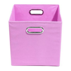 Modern Littles - Rose Solid Pink Folding Storage Bin - Pack 'em up! Your kids will love to keep their toys in this fun, colorful storage bin. It easily slides under beds or cribs and folds flat for easy storage.