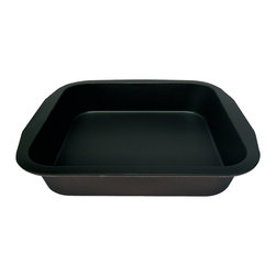 "Frieling - Square Pan, 9"" X 9"", Nonstick - Non-stick collar for perfect release. Zenker pans are constructed of steel for great heat conduction. Enamel coated inside and out is applied under 1832-degrees Fahrenheit. This high temperature makes the surface extremely resistant to high temperature baking and cut resistant. Dishwasher safe and easy to clean."