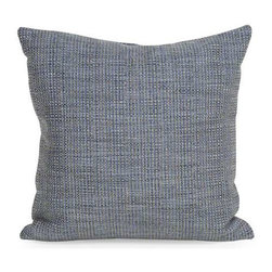 """Howard Elliott Coco Sapphire 20"""" x 20"""" Pillow - Change up color themes or add pop to a simple sofa or bedding display by piling up the pillows in a multitude of colors, textures and patterns. This Coco Pillow features a surprisingly soft burlap texture in a sparkling sapphire blue. This Coco Sapphire piece is 66% polyester 34% acrylic finished in sparkling sapphire blue."""