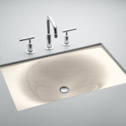 "KOHLER - KOHLER K-2826-FD Iron/Tones Cast Iron Undercounter / Self-Rimming Lavatory - KOHLER K-2826-FD Iron/Tones Cast Iron Undercounter/ Self-Rimming Lavatory, 24-3/4"" x 15-5/8"" in Cane Sugar"
