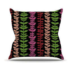 """Kess InHouse - Jane Smith """"Garden Vine and Leaf"""" Rainbow Vines Throw Pillow (Outdoor, 26"""" x 26"""" - Decorate your backyard, patio or even take it on a picnic with the Kess Inhouse outdoor throw pillow! Complete your backyard by adding unique artwork, patterns, illustrations and colors! Be the envy of your neighbors and friends with this long lasting outdoor artistic and innovative pillow. These pillows are printed on both sides for added pizzazz!"""