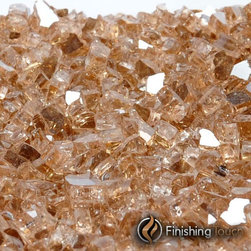 "Finishing Touch Products - 8 Pound Container of 1/4"" Copper Metallic Fireglass - Contains: 8 LB Container"