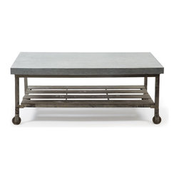 Go Home - Pittsburgh Coffee Table - Pittsburgh Coffee Table is beautiful Table ,its top is made from galvanized steel and its base is with Steel , that will add charm to many decor themes with the rich history this unique accent piece brings to life.