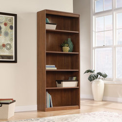 """Sauder - Camber Hill Library Bookcase - Features: -Three adjustable shelves.-Available in Sand Pear.-Overall dimensions: 71.88"""" H x 30.88"""" W x 12"""" D."""