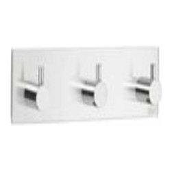 Smedbo - Smedbo Design Triple Square Hook, Self Adhesive, Steel - Smedbo Design Triple Square Hook, Self Adhesive, Steel