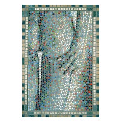 "The Tush Mosaic Art - I use this ancient medium of mosaics to create 21st century imagery. The Tush is simply a beautiful piece. 32"" x 22"" in dimension, The Tush is created from micro mosaic tile (3/8"") and marble. It is ready to hang."