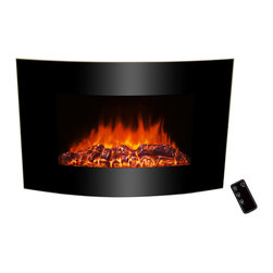 GOLDEN VANTAGE - GV 36-inch Electric Fireplace Wall Mount Style W/Log And Led Backlight - Our electric powered fireplaces give off a simulated flame ambience without the danger associated with real fire, or the inconvenience of soot or smoke.These products come in many different designs to complement your existing style.You can also choose heat or ambient modes depending on your mood, 3D realistic design and 3 color led backlights.