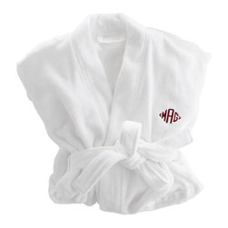 Turkish Hydro Cotton Bathrobe - Distinguished and elegant bathrobes are the epitome of hotel luxe. These monogrammed numbers are incredibly soft and dry quickly.