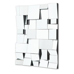 Modani - Axis Mirror - This contemporary piece will add pizazz to your walls! The interwoven design of glass on the Axis mirror will have guests gawking at your modern decorating skills. The sophisticated Axis mirror can be placed in an entry way, living room or bedroom to add a fresh feel to the room. Elevate a weary wall from uninteresting to chic with the Axis mirror!
