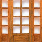 """Knotty Alder Entry Prehung Door with Two Sidelites, 8-Lite 1-Panel - SKU#SW-68_1-2BrandAAWDoor TypeExteriorManufacturer CollectionWestern-Santa Fe Entry DoorsDoor ModelDoor MaterialWoodWoodgrainKnotty AlderVeneerPrice2144Door Size Options[30""""+2(18"""") x 80""""] (5'-6"""" x 6'-8"""")  +$2144[32""""+2(18"""") x 80""""] (5'-8"""" x 6'-8"""")  +$2144[36""""+2(18"""") x 80""""] (6'-0"""" x 6'-8"""")  +$2154[30""""+2(18"""") x 96""""] (5'-6"""" x 8'-0"""")  +$2730.4[32""""+2(18"""") x 96""""] (5'-8"""" x 8'-0"""")  +$2730.4[36""""+2(18"""") x 96""""] (6'-0"""" x 8'-0"""")  +$2740.4[42""""+2(18"""") x 96""""] (6'-6"""" x 8'-0"""")  $0Core TypeSolidDoor StyleRusticDoor Lite Style8 LiteDoor Panel Style1 PanelHome Style MatchingSouthwest , Log , Pueblo , WesternDoor ConstructionTrue Stile and RailPrehanging OptionsPrehungPrehung ConfigurationDoor with Two SidelitesDoor Thickness (Inches)1.75Glass Thickness (Inches)1/4Glass TypeSingle GlazedGlass CamingGlass FeaturesGlass StyleGlass TextureClearGlass ObscurityDoor FeaturesDoor ApprovalsDoor FinishesDoor AccessoriesWeight (lbs)850Crating Size25"""" (w)x 108"""" (l)x 52"""" (h)Lead TimeSlab Doors: 7 daysPrehung:14 daysPrefinished, PreHung:21 daysWarranty1 Year Limited Manufacturer WarrantyHere you can download warranty PDF document."""