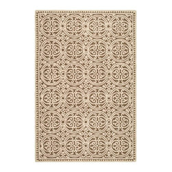 Safavieh - Cambridge Brown/White Area Rug CAM232A - 2' x 3' - Decorate your home with the Safavieh Cambridge Welsh Rug. This eye-catching rug features a special high-low construction that adds depth and unusual detailing. The stunning colors are sure to impress.