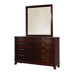 Enitial Lab - Hamden 8 Drawer Dresser - Lush Brown Cherry - IDF-7228D - Shop for Dressers from Hayneedle.com! Add contemporary flair and maximum storage to your bedroom with the Hamden 8 Drawer Dresser - Lush Brown Cherry. Made of solid wood with a rich cherry finish you ll appreciate the eight spacious drawers that open on full metal glides for smooth operation. Quality English dovetail construction adds resilience and strength. Sleek brushed nickel drawer pulls and angled legs will make this a stand-out centerpiece in any home. About Enitial LabBased in California Enitial Lab has established itself as a premier provider of fine home furnishings. The people behind Enitial Lab brand are moved by passion hard work and persistence. They're always striving to design the latest piece keeping in mind their mission to make quality furniture available to urban-minded shoppers without compromising the packaging integrity. Enitial Lab offers unique coordinated and affordably designed furniture; they're a one-step resource in the furniture industry for both high-quality pieces as well as secure and professional packaging.