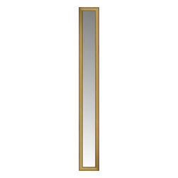 """Posters 2 Prints, LLC - 14"""" x 76"""" Arqadia Gold Traditional Custom Framed Mirror - 14"""" x 76"""" Custom Framed Mirror made by Posters 2 Prints. Standard glass with unrivaled selection of crafted mirror frames.  Protected with category II safety backing to keep glass fragments together should the mirror be accidentally broken.  Safe arrival guaranteed.  Made in the United States of America"""