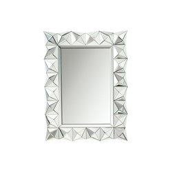 Dimensional Beveled Mirror - This unique Gibraltar�� mirror will make a distinctive impact in your home. Featuring angular details with a Clear finish, this design is sure to create a bold statement in any space.