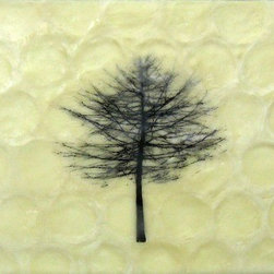 """Winter Solstice"" (Original) By Deborah Stachowic - This Is One Of A Series Of Tree Paintings. I Take Photos Of Local Trees In Winter Without Their Leaves. I Love The Look Of Just The ""Skeleton"" Of The Tree. This Is On A Wonderful Background Of Texture That Reminds Me Of Honeycomb."
