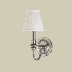 Hudson Valley Lighting - Hudson Valley Lighting 1901-SN Newport 1 Light Wall Sconce, Satin Nickel - This 1 light Wall Sconce from the Newport collection by Hudson Valley Lighting will enhance your home with a perfect mix of form and function. The features include a Satin Nickel finish applied by experts. This item qualifies for free shipping!
