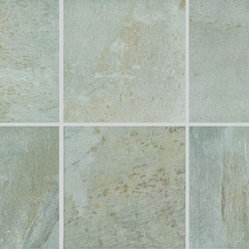 Vals Porcelain Tile - Slightly textured stone-look , floor tiles