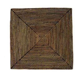Kouboo - Square Nito Placemat Set of 2, Brown - These sturdy, tightly woven placemats will quickly become your favorites for their beauty and quality. Make your table setting reflect your discerning taste and your sense for blending styles for any occasion. Only 0.25 inches thick, rigid and very even surface ensures wine glasses stand firm.