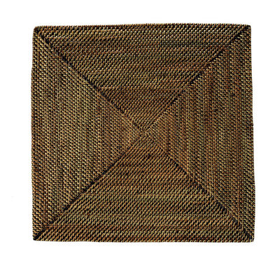 Kouboo - Square Nito Placemats, Brown, Set of 2 - These sturdy, tightly woven placemats will quickly become your favorites for their beauty and quality. Make your table setting reflect your discerning taste and your sense for blending styles for any occasion. Only 0.25 inches thick, rigid and very even surface ensures wine glasses stand firm.