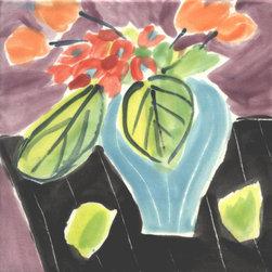 """Annette Kearney Majolica Mosaics - Matisse inspired majolica tiles 6"""" and 4"""""""