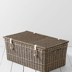 Driftwood Storage Trunk With Lid - This driftwood storage trunk with lid is the perfect place to hide away blankets, magazines and other little items.
