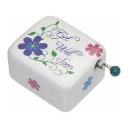 WL - Colorful Flowers Pattern Musical Hand Crank with Get Well Soon Logo - This gorgeous Colorful Flowers Pattern Musical Hand Crank with Get Well Soon Logo has the finest details and highest quality you will find anywhere! Colorful Flowers Pattern Musical Hand Crank with Get Well Soon Logo is truly remarkable.