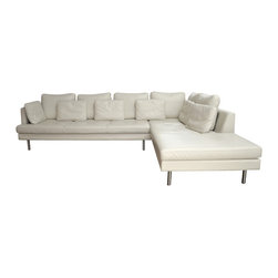 """BoConcept """"Istra"""" Sectional in Ivory Bahia Leather - Dimensions:L 115''  × W 40''  × H 26''"""