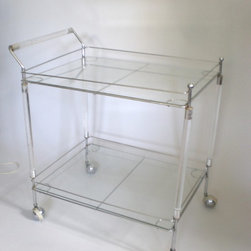 Metal Lucite Bar Cart -