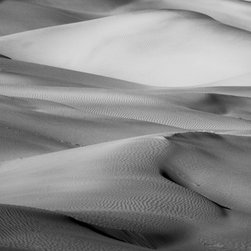 """""""Sometimes"""" Artwork - The picture was taken in death valley national park. the black and white tones emphasizes the rolling hills of sand. they appear to move like waves in water. all images are available in the following sizes: 13x19 unframed on luster photographic paper - 17x25 unframed on luster photographic paper - 20x30 printed on metallic and mounted on plexiglass -$1100 limited to 9 artist proof editions in a particular size. they will be signed and numbered on the back of the image. i print all images using the latest technology, the highest-quality papers, and newest archival inks. additionally, i include a 5mm white border to ensure proper handling that eliminates the potential for fingerprints."""