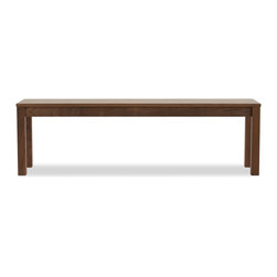 Hedge House Furniture - Parsons Bench - Solid walnut Parsons bench