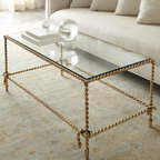 'Chloe' Coffee Table - Glass and metal make this stunning table a must-have in your home. It's simple and elegant and adds such a soft touch. Perfect for evening entertaining or gatherings.