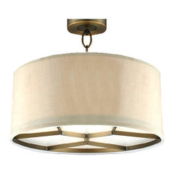 Country Copper and Flax Shade Recessed Lighting -