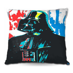 DiaNoche Designs - Pillow Woven Poplin - Darth Vader - Toss this decorative pillow on any bed, sofa or chair, and add personality to your chic and stylish decor. Lay your head against your new art and relax! Made of woven Poly-Poplin.  Includes a cushy supportive pillow insert, zipped inside. Dye Sublimation printing adheres the ink to the material for long life and durability. Double Sided Print, Machine Washable, Product may vary slightly from image.