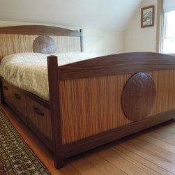 Walnut Yin-Yang Storage Bed -