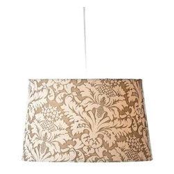 MIDWEST CBK - Ivory Brocade Hanging Pendent Lamp 100W Max - Ivory Brocade Hanging Pendent Lamp. 100W Max. Shop home furnishings, decor, and accessories from Posh Urban Furnishings. Beautiful, stylish furniture and decor that will brighten your home instantly. Shop modern, traditional, vintage, and world designs.